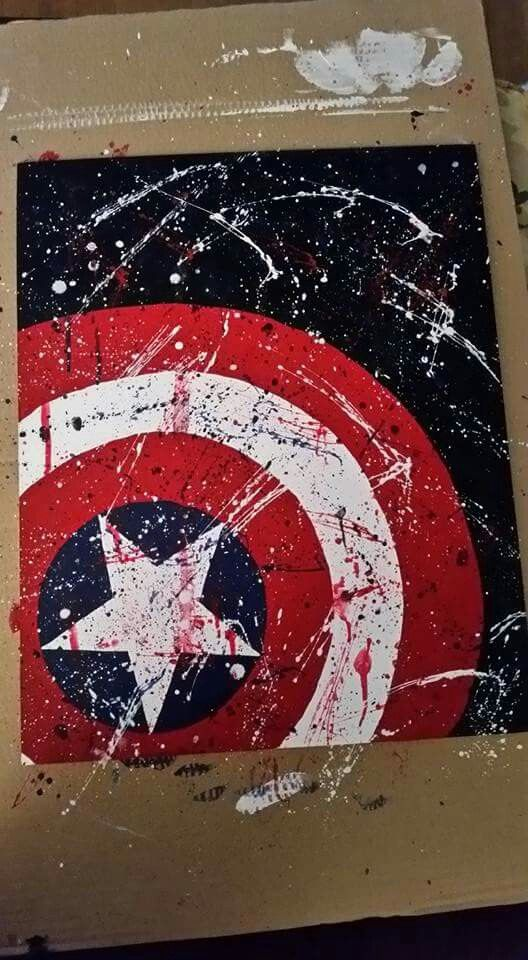 Captain America Shield painting. This will be a great addition to my walls once it dries.