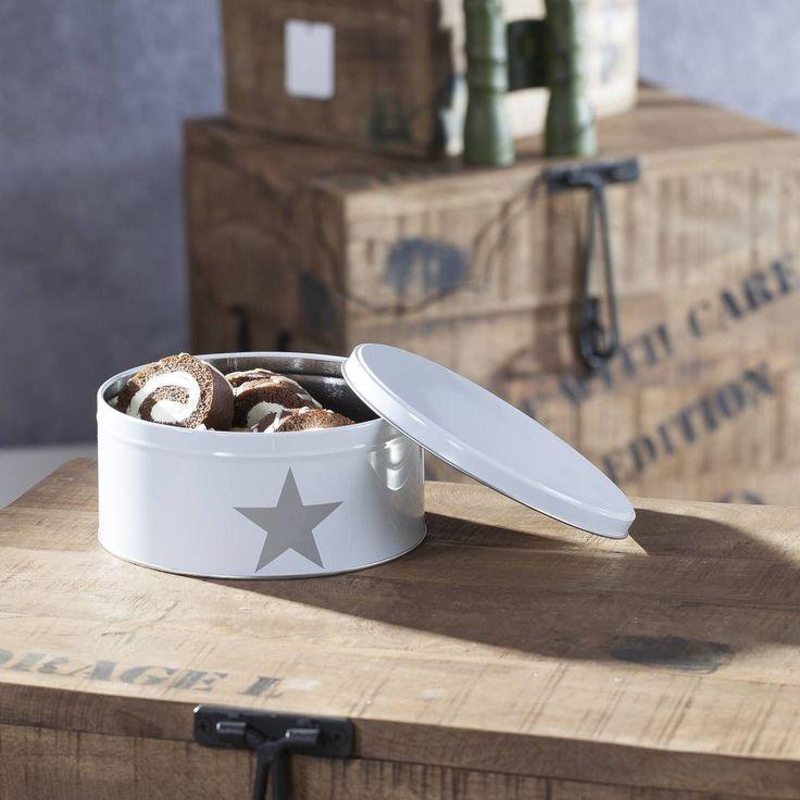 Kpl. pojemników Star white 3 szt., 20x20x9cm - Dekoria #dekoracje #decoration #dom #home #salon #idea #inspiration #inspiracje