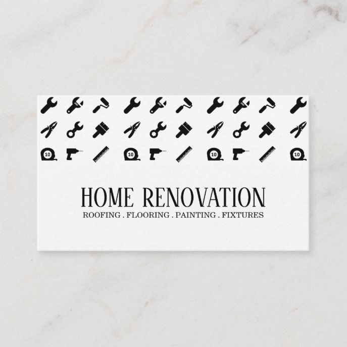 Home Renovation Construction Business Card Zazzle Com In 2021 Construction Business Cards Remodeling Business Construction Business