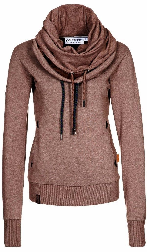 Adorable sweatshirt scarf and a hoodie in one