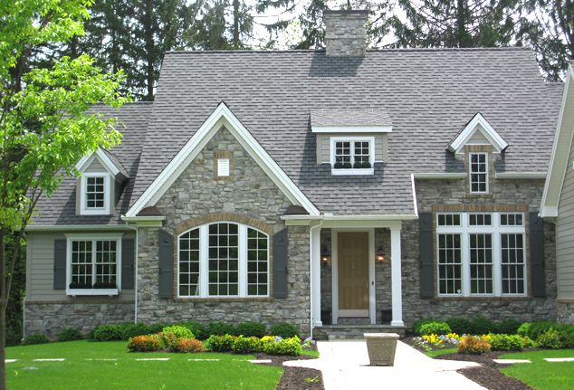 17 best images about exterior gray houses on pinterest for Cobblestone shutters