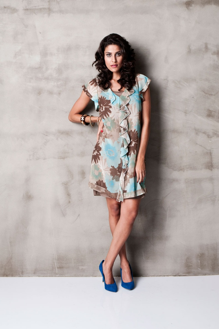 SLN Nelson Dress in Turquoise - Beyond the Rack
