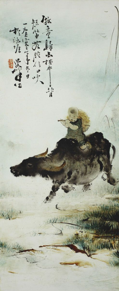 Lee Man Fong - Boy On A Buffalo (sold for $ 317,200)