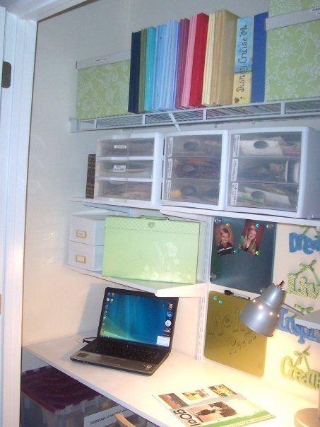 scrapbook closet ideas space i decided to turn our spare bedroom closet