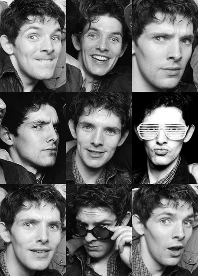 Colin Morgan, man of a thousand wonderful faces lol.....the duck face. :D
