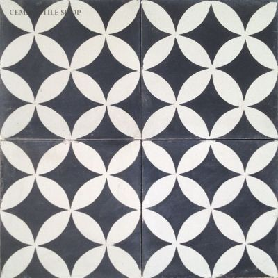 Circulos Black cement tile