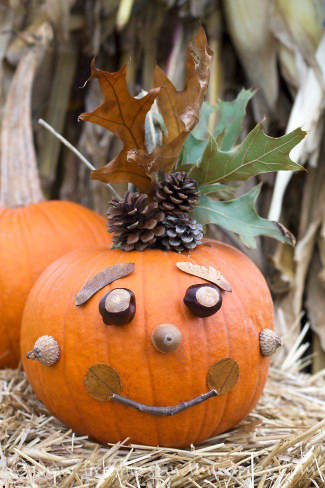 Ideas para decorar Calabazas con niños: decorar calabazas de Halloween con niños, manualidades con niños para Halloween.