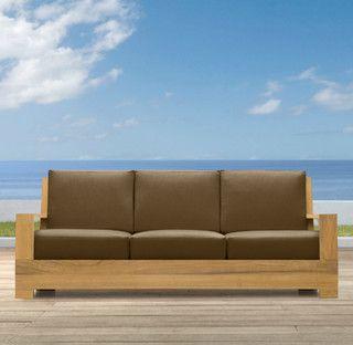 "78"" Belvedere Sofa - contemporary - outdoor sofas - by Restoration Hardware"