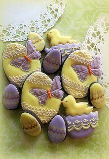Easter cookies by mint_lemonade, via Flickr