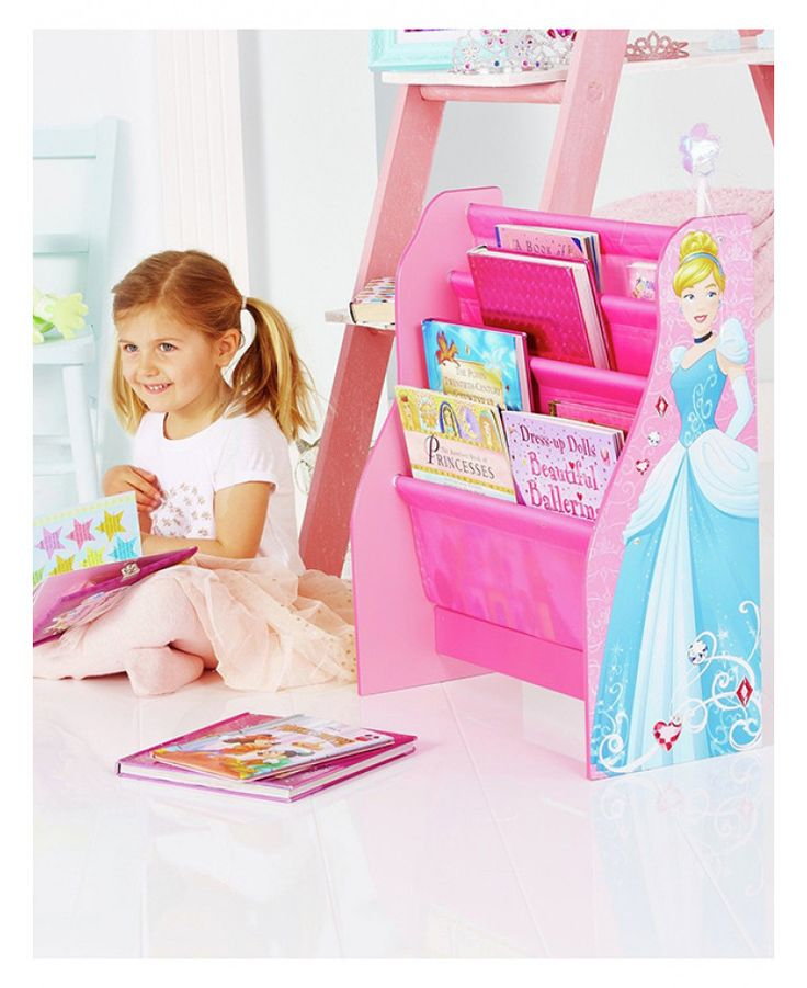 This Disney Princess Sling Bookcase Is A Classic Design MDF Frame With Compartments Ideal