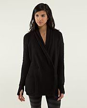 Lululemon Post Practice Cardi Black