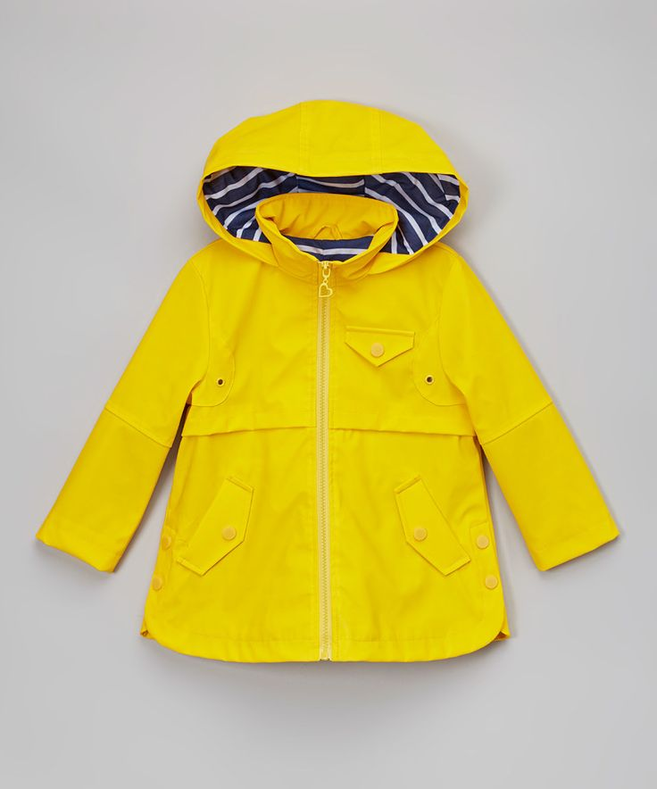 Another great find on #zulily! Yellow Zip-Up Raincoat - Infant, Toddler & Girls by Urban Republic #zulilyfinds