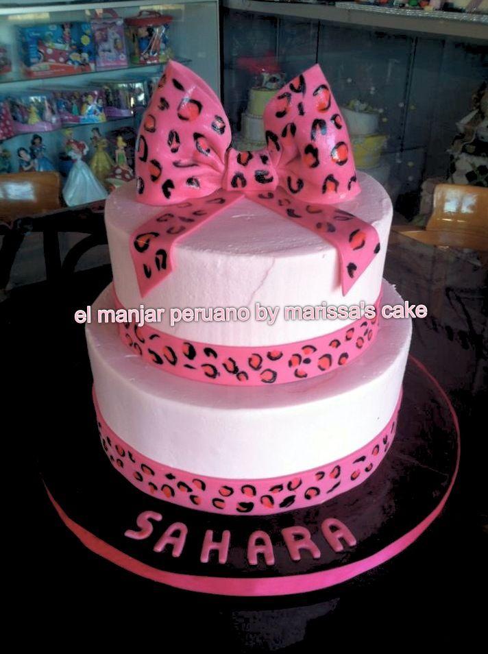 Cheetah Baby Shower Cakes