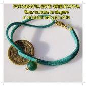 [K] Bratara-amuleta cu BANUT CHINEZESC si AGAT DE MUSCHI