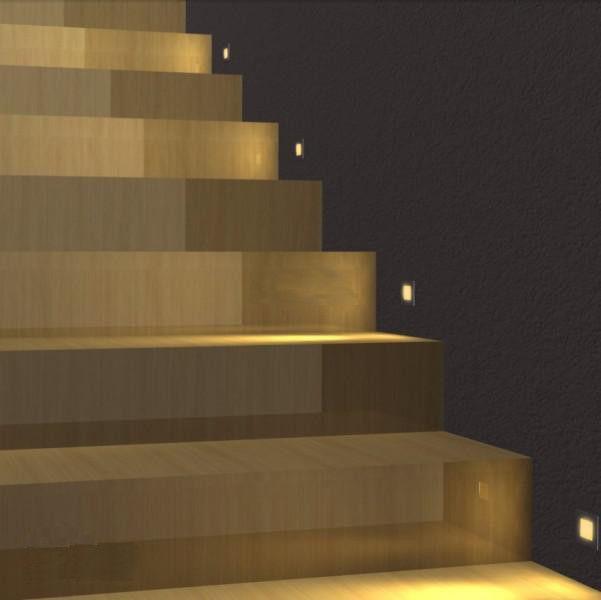 Peque os leds para escalera con starisled dicroicos led for Apliques led para escaleras