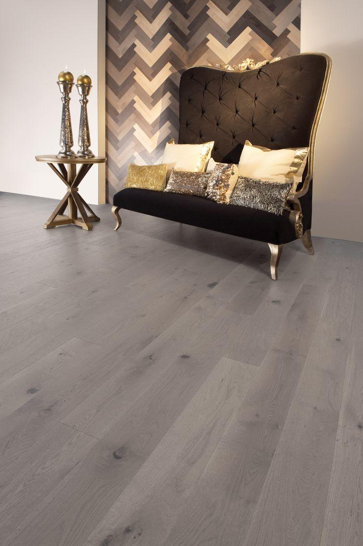 Collection Flair | Plancher de chêne blanc à caractère prononcé et de couleur Grey Drizzle