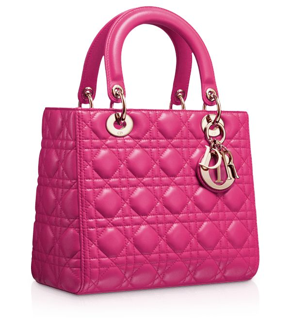 "LADY DIOR - Sac ""Lady Dior"" cuir Rose Royal"