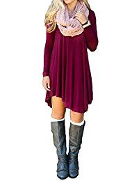 New ReachMe Womens Long Sleeve Casual Loose T-Shirt Dress Midi Tunics For Leggings online. Find the perfect Cosbeauty Tops-Tees from top store. Sku VIAS18079KIQG87607