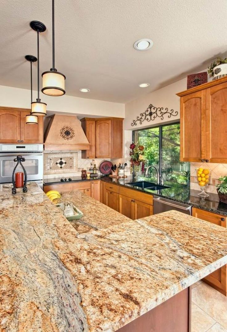 Alluring Modern Yellow River Granite Countertops Design |