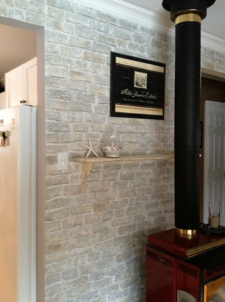 Faux Brick Wall From Drywall Compound And Carved With A