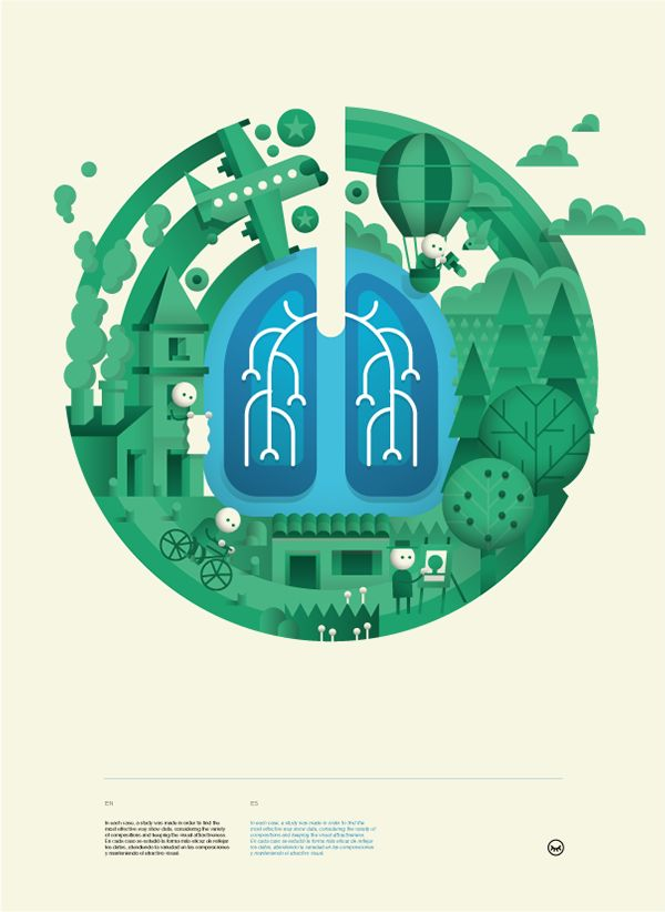Nice design by Mauco Sosa, graphic piece to promote a new cancer treatment