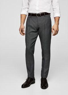 Pantalón traje slim-fit lana