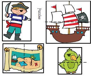 Preschool Printables: Pirate                                                                                                                                                                                 Más