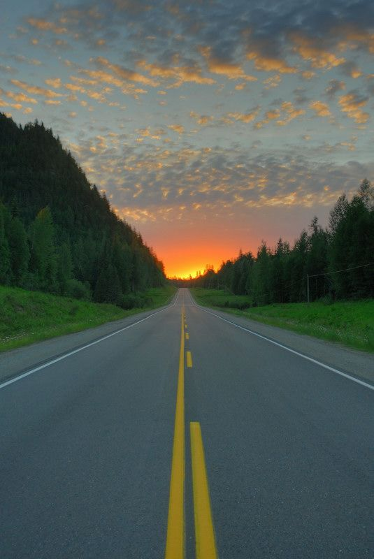 Empty Highway - Prince George, British Columbia