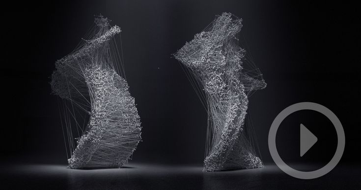 Asphyxia is an experimental film project by Maria Takeuchi and Frederico Phillips that explores human movement through motion capture technology. The team used two inexpensive Xbox One Kinect sensors to capture the movements of dancer Shiho Tanaka and then rendered the data inside a near p
