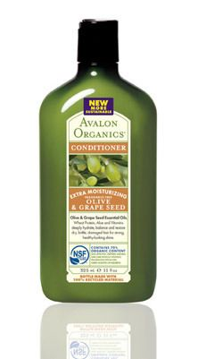 Avalon Organics OLIVE & GRAPE SEED Extra Moisturizing Fragrance Free Conditioner || Skin Deep® Cosmetics Database | Environmental Working Group
