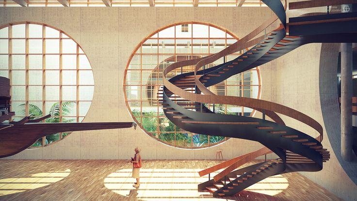 Gabriele De Giovanni - Arsenale's Sea Museum Exhibition Hall in Palermo - Rhino>Cinema4D+vRay>Photoshop