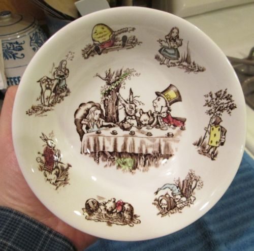 Johnson Brothers China Alice IN Wonderland Ironstone Bowl England Very Nice   eBay