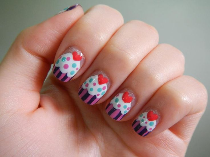 Cake Nail Art Design : Food & nail art? Yes please. Nail Art Pinterest ...