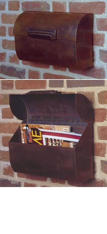 ENVELOPE STYLE COPPER MAILBOX