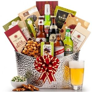 Downtown Bistro Beer Chiller - Enjoy this collection of beer and gourmet treats from Arttowngifts.com.