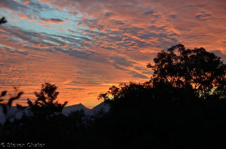"""Sun setting from Boonah farmstay"""