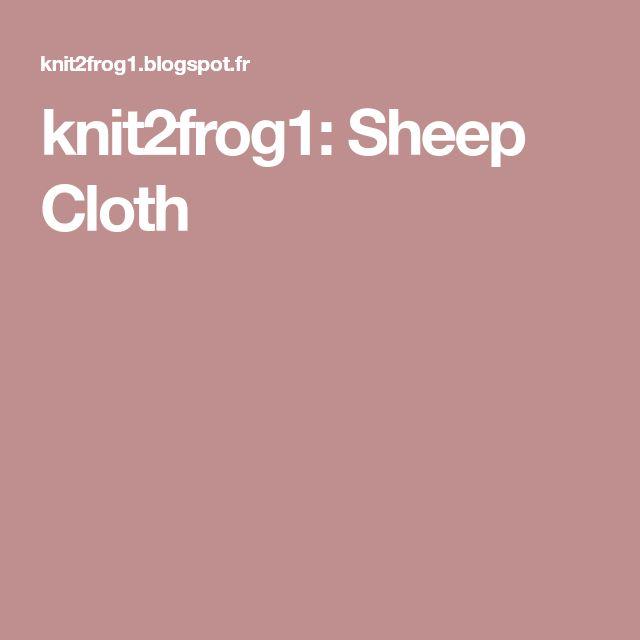 knit2frog1: Sheep Cloth
