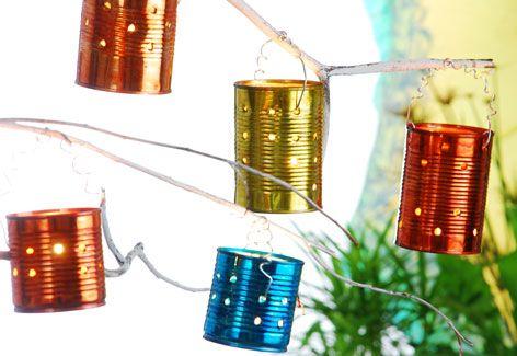 Ideas para faroles navideños con latas recicladas | Decorar tu casa es facilisimo.com