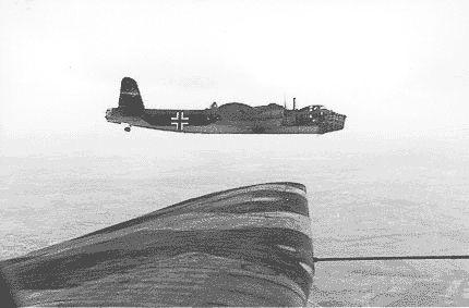 Stirling bomber in Luftwaffe markings
