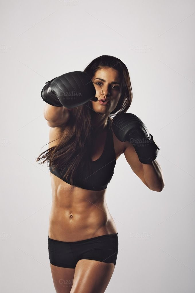 Gym Workout Girl Wallpaper Female Athlete Exercising Boxing By Jacob Lund Photography