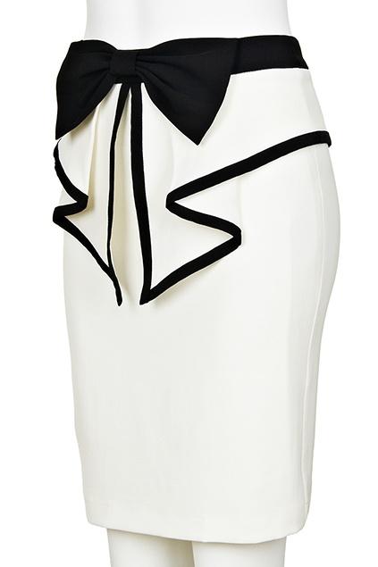 Bow Embellishment Flouncing Skirt #Romwe