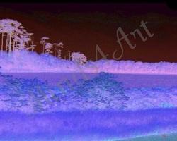 England landscape digitally altered for photo print!