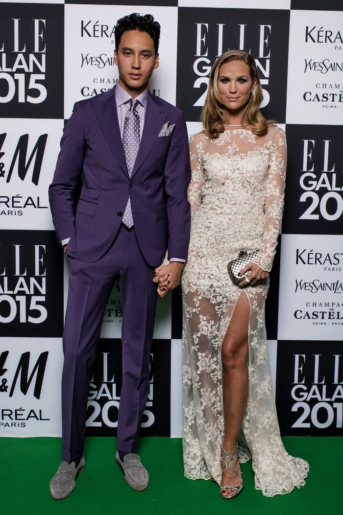 Beautiful artist Marie Serneholt at the Elle gala in Sweden Jan 16th 2015. Could be a stunning wedding dress!