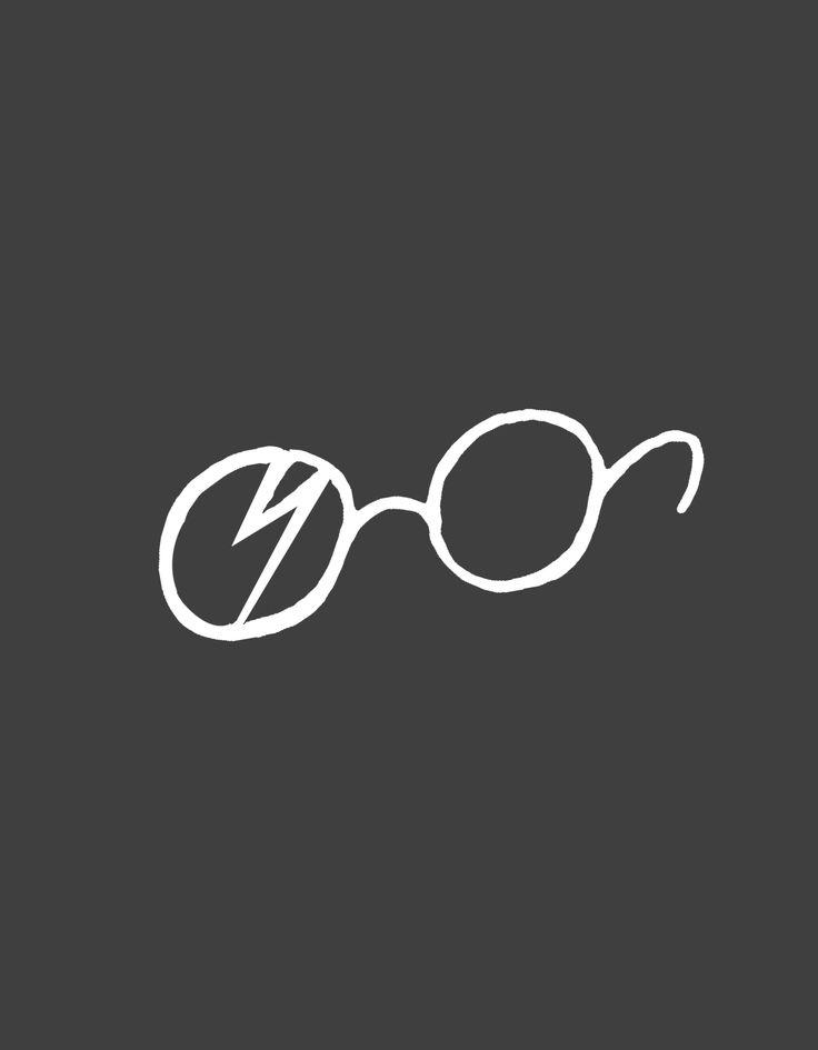 """Гарри Потер. Работы участников онлайн школы Айдентика. Тема """"Пиктограмма литературного персонажа"""", http://blog.romashin-design.com/ajdentika"""