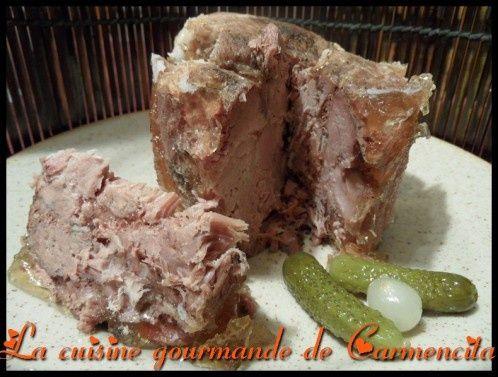 Jambonneau de porc en conserves