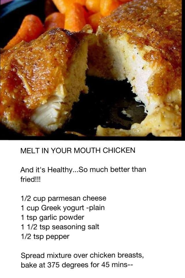 Parmesan chicken. So simple, and a unbelievably yummy!