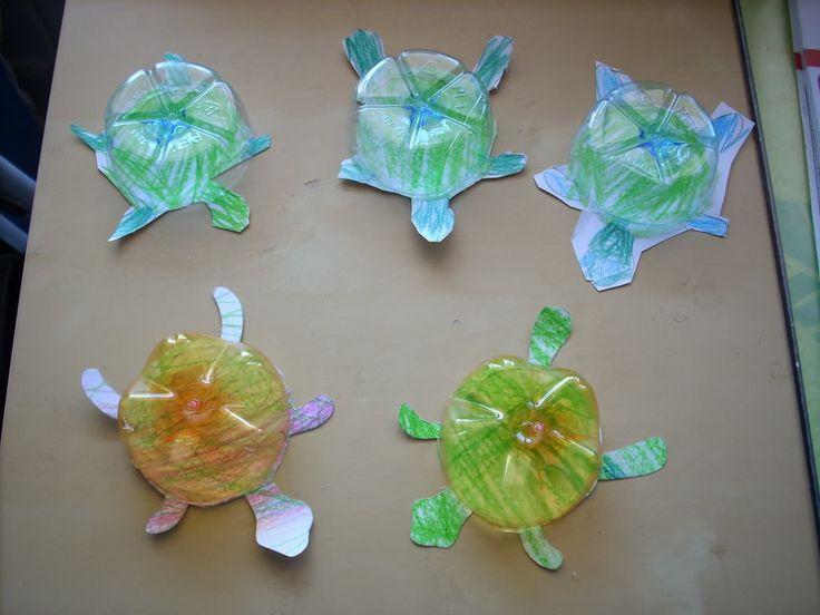 Attività Creative Per Bambini: Riciclo creativo: tartarughina