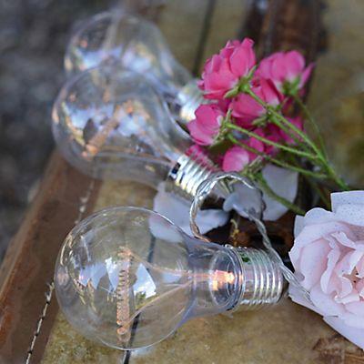 Elite Guirlande électrique d'extérieur à 8 lampes forme ampoules L3,5m
