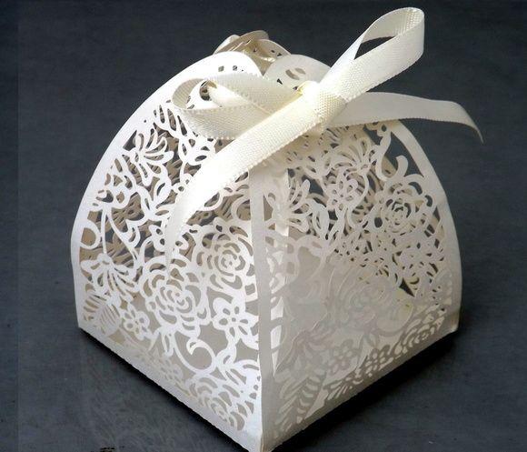 Embalagem bem casado Branco Perolado