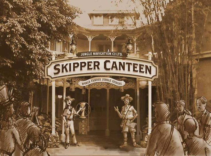 """The brand-new Jungle Navigation Co., Ltd. Skipper Canteen restaurant is opening late 2015 in Adventureland at Magic Kingdom Park! Staffed by Jungle Cruise Skippers, this location will allow Guests to experience the """"World Famous Jungle Cruise"""" in one of several unique dining rooms."""